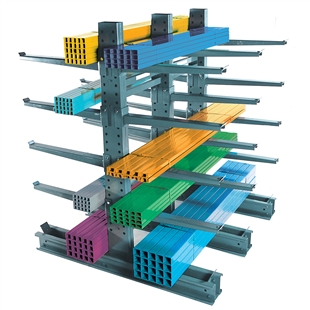 "8'h Heavy Duty Cantilever Rack with 48"" Arms"