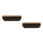 "Two pack shelf ledges 4""d x 8""w in white and espresso"