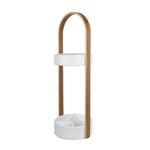 Hub Umbrella Stand White/Natural