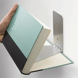 Small Floating Bookshelf with concealed feet to catch the cover of the book.