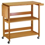 Kitchen Cart Foldable with Shelves (34137)