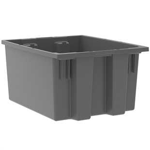 "6 Akro Nest and Stack Totes - 19.50""d x 15.50""w x 10""h"