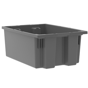 "6 Akro Nest and Stack Totes - 19.50""d x 13.50""w x 8""h"