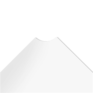 "36""d Plastic Wire Shelf Liners - White"