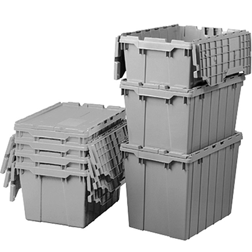 Attached Lid Bins Stacking Totes and Distribution Containers Akro