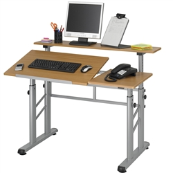 Adjustable Split Level Drafting Table