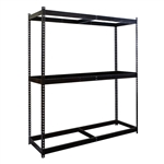 "3-Shelf Black Double Rivet Starter Units - 24""d x 84""h"