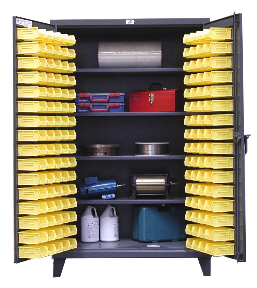 Stronghold 4 Shelf Bin Cabinets Shelving Inc