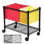 Wire Mobile Filing Carts for letter and legal size folders