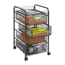 Onyx 4 Drawer Wire Mesh Office Organizer by Safco