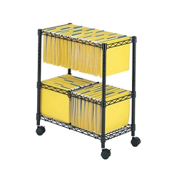2 tier rolling wire file cart