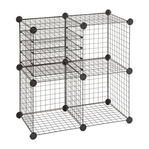 Set of Wire Cubes  sc 1 st  Shelving.com & Interlocking Wire Grid Cubes | Dorm Room Storage- Safco
