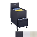 Locking Mobile Letter Size Tub File with Drawer