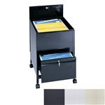 Locking Mobile Legal Size Tub File with Drawer