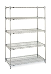 "21""d Super Adjustable Wire 5-Shelf Starter Units"