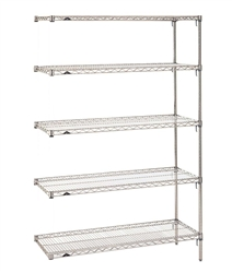 Use S-Hooks to attach this to your existing wire shelving system!