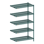 "21""d x 74""h Super Erecta 5-Shelf Add-On Units"