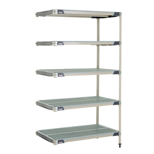 "24""d MetroMax i Antimicrobial 5-Shelf Add-On Units"