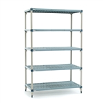 "21""d x 74""h MetroMax Q 5-Shelf Starter Units"
