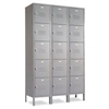 "5 Tier Lockers - 12""d x 12""w x 66""h - Gray"