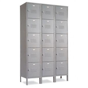 Five Tier School Lockers- gray or champagne
