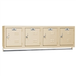 "Wall Mounted Lockers with Coat Hanger Rod 45""w x 18"" d x 13-5/8""h"