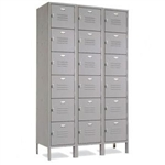 Six Tier School Lockers- gray or champagne