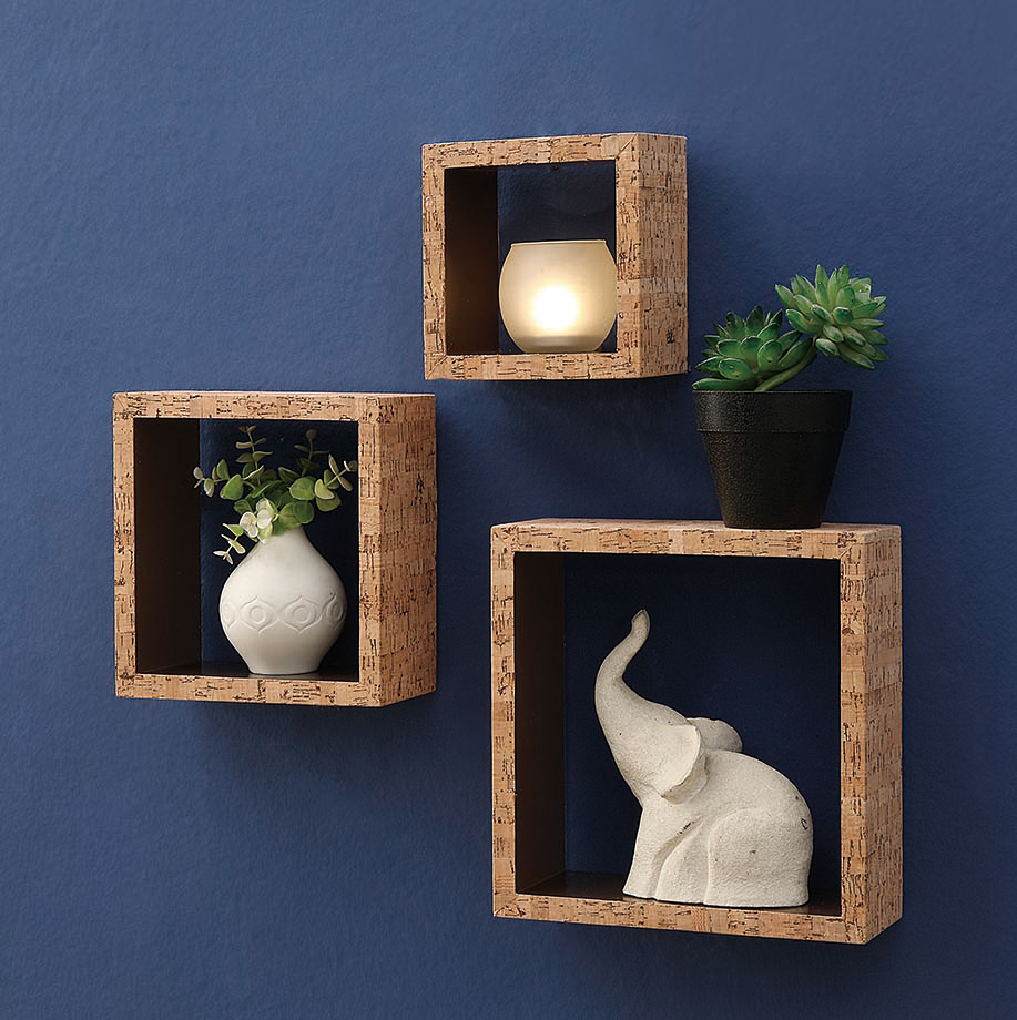 Stupendous Cork Wall Cubes Set Of 3 Home Interior And Landscaping Ologienasavecom