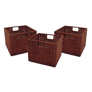 Leo 3-Piece Wired Baskets - Small