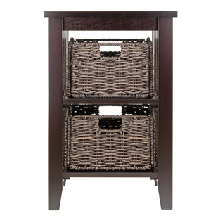 Morris Side Table w/ 2 Baskets