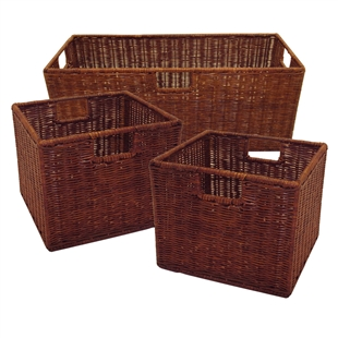 Leo Set of 3 Wired Baskets - 1 Large & 2 Small