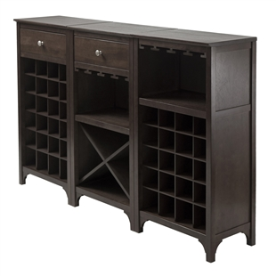 The Ancona 3-Piece Modular Wine Cabinet Set