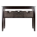 Morris Console Hall Table w/ 3 Baskets