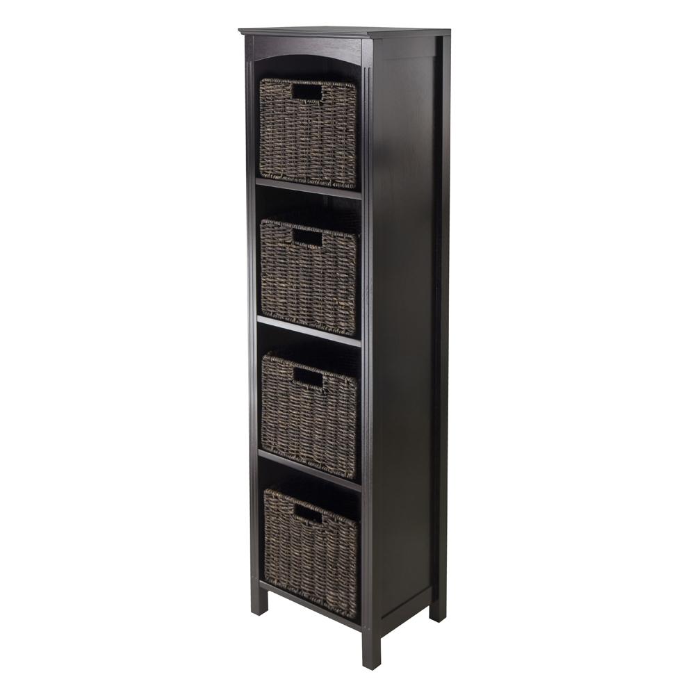 5 Piece Storage Tier Shelf W 4 Small