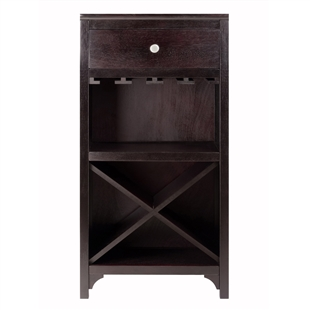 Ancona Modular Wine Cabinet w/ Drawer & Glass Rack