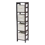 Capri 4-Section N Storage Shelf w/ 4 Baskets