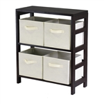 Capri 2-Section M Storage Shelf w/ Baskets