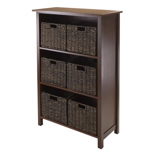 Granville 7-Piece Storage Shelf - 3-Section w/ 6 Baskets