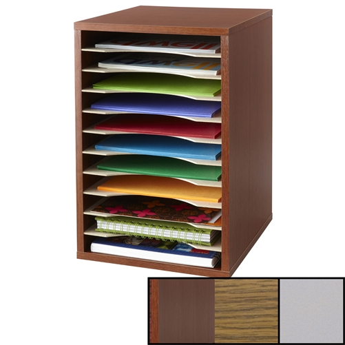 Vertical Desktop Sorter 11 Compartments Office Organizer Safco