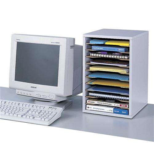 Vertical Desktop Sorter 11 Compartments Office