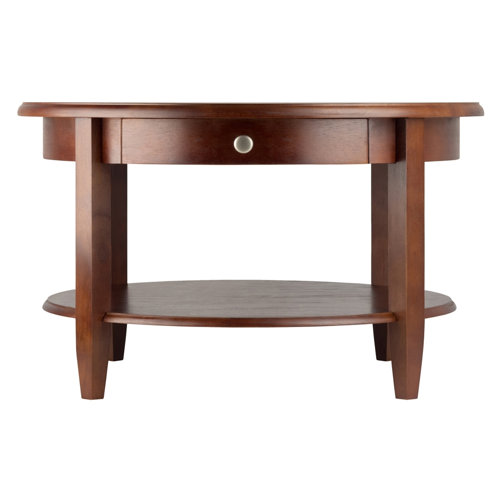 Concord Round Coffee Table W/ Drawer U0026amp; Shelf By Winsome Wood