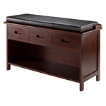 Adriana 2-Piece Storage Bench w/ Cushion Seat