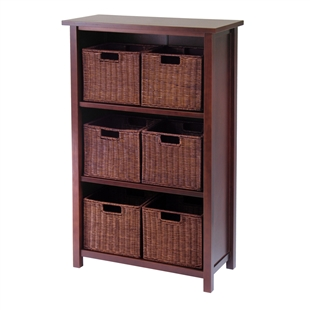 Milan 7-Piece Cabinet/Shelf Set w/ 6 Baskets
