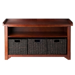 Granville Storage Bench w/ 3 Baskets