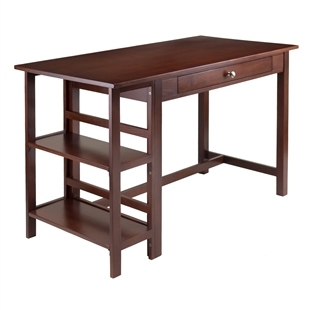 Velda Writing Desk w/ 2 Shelves