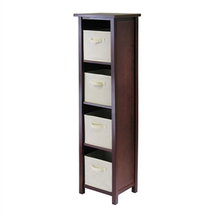 Verona 4-Section N Storage Shelf w/ 4 Baskets