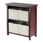 Verona 2-Section M Storage Shelf w/ 4 Baskets