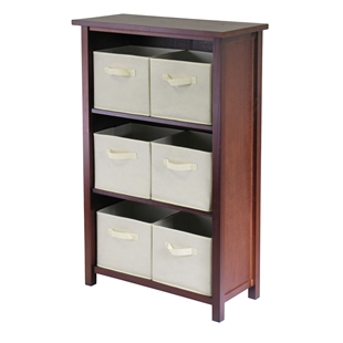 Verona 3-Section M Storage Shelf w/ 6 Baskets