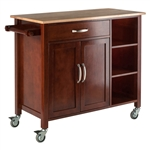 Mabel Kitchen Cart - Walnut/Natural