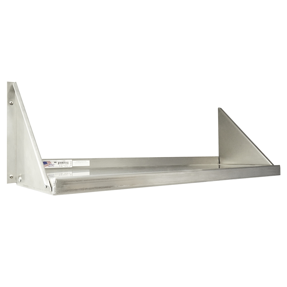 Heavy Duty Wall Shelving : Quot d heavy duty aluminum wall shelves